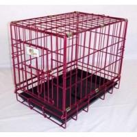 Hundbur Rosa Metallic (XS)