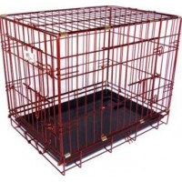 Hundbur Röd Metallic (XS)