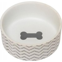 PetRageous Chevron Keramikskål Grå (S)