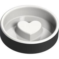 Magisso Matskål Hjärta Svart (Keramik)