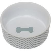PetRageous Chevron Keramikskål Turkos (L)