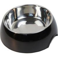Matskål Plast/aluminium Svart (L)