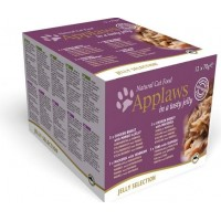 Applaws Cat Kyckling & Fisk i gelé (12 x 70 g)