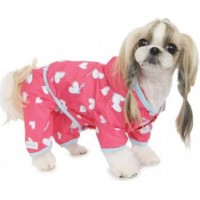 Sprinkle Hearts All-in-One Raincoat - Pink