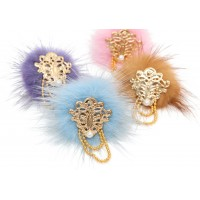 Peacock Feathers Hair Pin
