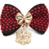 Snowflake Pendant Ribbon Hair Pin