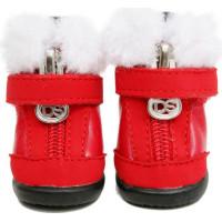 Winter Hundskor - Röd