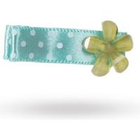 Dotty Ribbon Hairpin Blue Flower