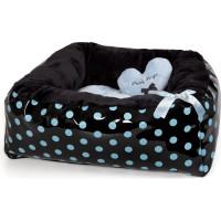 Polkadot Ease Bed - Blue