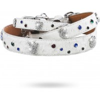 Paws and Sprinkles Halsband Vit
