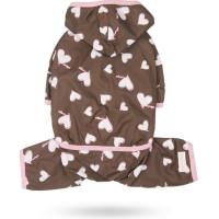 Sprinkle Hearts All-in-One Raincoat - Brown