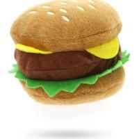 Hamburger Plush & Squeaky Hundleksak