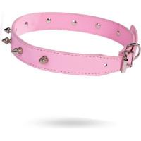 Studded Collar - Pink - Medium