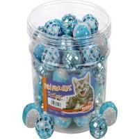 Kattleksak Glitterboll plast blå-vit