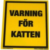 Varning för katten GUL