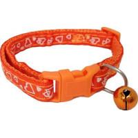 Katthalsband Hjärta Orange