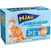 Kattfoder Mjau Multipack Kött och Fisk i Gele